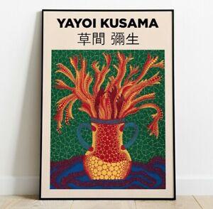 Yayoi Kusama Art Print, Japanese Contemporary Art, Home Decor, Wall Art