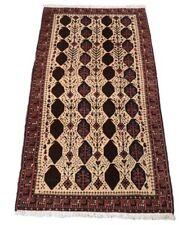 Shahrbabak 176 X 88 cm,Alfombra Oriental Anudada a Mano Persa Corta Beige,Nuevo