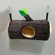 1 Pcs Cute Velvet Horizontal Log Bed Sugar Glider Cage, Small Pet, Hamster.