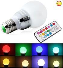 Bombilla led con mando distancia efecto de colores rosca tradicional  16 colores
