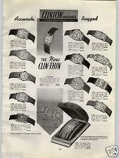 1940 PAPER AD 3 PG Clin Thin Wrist Watch Chronograph