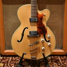 Vintage 1968 Hofner Thinline President Blonde Archtop Electric Guitar