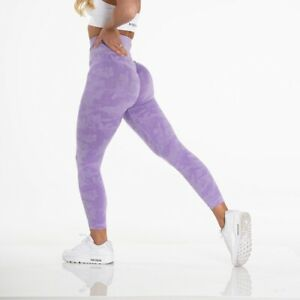 NVGTN Lilac Camo Seamless Leggings Size XS New In Stock