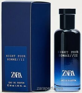 ZARA MAN NIGHT POUR HOMME II MEN'S EAU DE PARFUM EDP PERFUME FRAGRANCE 30ml/ 1oz
