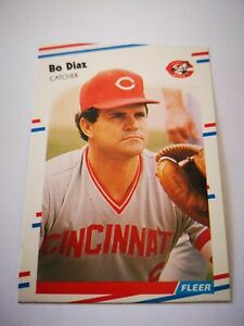 Fleer 1988 carte card Baseball MLB US NM+/M Cincinnati Reds #232 Bo Díaz