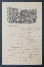 Facture 1901 HOTEL rue Sommerard et des Ecoles PARIS  old bill Rechnung 20