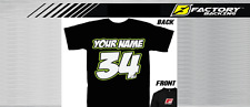 CUSTOM NAME AND NUMBER TEE SHIRT MX MOTOCROSS  Style #1