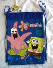 Blue Spongebob Drawstring Backpack Child School Sling Tote Gym Bag 🎒