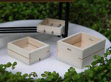 Miniature Dollhouse FAIRY GARDEN ~ Set of 3 Wood Wooden Fruit & Vegetable Crates