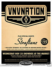 VNV NATION / STRAFTANZ 2011 SEATTLE CONCERT TOUR POSTER -Synthpop, Industrial