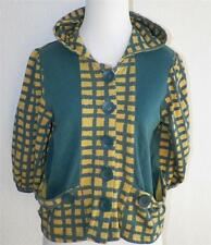 Urban Outfitters Kimchi & Blue Gold/Teal Cropped Baby Doll Sweater Top Shirt USA
