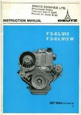 Deutz Engine F3L F4L F5L F6L 912 & 912W Operators Manual