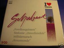I love Classic Schubert ROSAMUNDE FORELLENQUINTETT 3CD