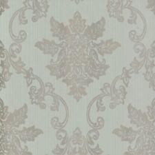1601-106-04 - Rosemore Damask Striped Duck Egg 1838 Wallpaper