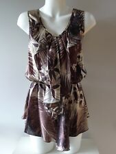 Elisabatta Franchi 46 12 M unused brown silk long NWOT excellent Top Italy