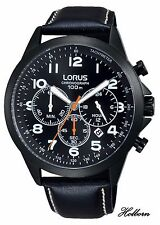 Lorus Gents Watch Black Dial Stainless Steel Chronograph RT373FX9 2 Yr Warranty.