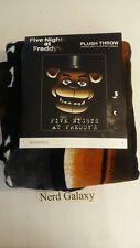 "Five Nights At Freddy's Fazbear Face Super Soft Plush Throw Blanket 48X60"" NEW"
