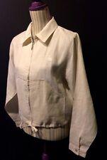Veste ivoire en ramie, marque LULU Castagnette, taille M, comme neuve