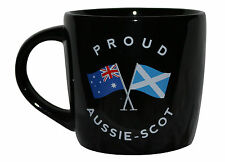 PROUD AUSSIE - SCOT TEA COFFEE MUG AUSTRALIAN SOUVENIR GIFT SCOTLAND BLACK