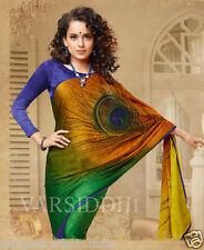 SARI BLOUSE ONLINE BUY PEACOCK MOTIF BOLLYWOOD DESIGNER ETHNIC INDIAN WEAR SAREE