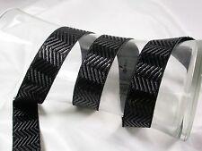 "Jacquard Ribbon 1"" (25mm) Metallic Chevron *Colors* 3 Yards & Up!"