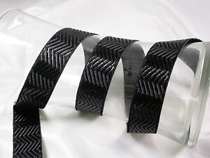 "Jacquard Ribbon 1"" (25mm) Metallic Chevron *Colors* 18 meter roll"