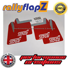 Qty4 Mud Flaps & Fixings SUBARU IMPREZA New Age 01-07 4mm PVC Red STi White
