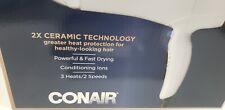 Conair 1875 Watt Double Ceramic Hair Dryer White Rose Gold