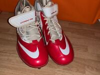 NIKE Superbad Pro Lunar Football Cleats RED WHITE Mens Shoes Size 13.5 ❤️sj17j15