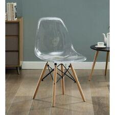 4 × Designer scandinavian transparent chair Eiffel Eames Chair Set modern chairs