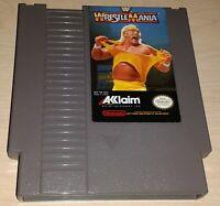 WWF WrestleMania Wrestling Hulk Nintendo NES Vintage original game cartridge