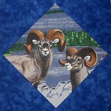 9 Wildlife Quilt Top Blocks, Deer, Grizzly Bear, Big Horn, Wolf, Antelope