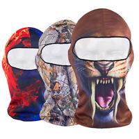 GI- 3D Print Outdoor Cycling Ski Balaclava Neck Hood Full Face Mask Hat Beanie M
