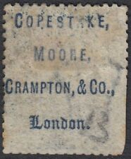 GB LINE ENGRAVED :1858 2d deep blue plate 13 N-A  SG47  used,COPESTAKE MOORE upt