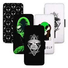 Alien Extraterrestrial UFO Flip Phone Case Cover Wallet - Fits Iphone 6 7 8 X 11
