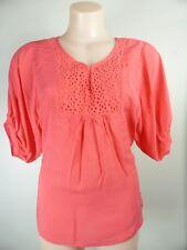 $9.95 top sale!! pretty coral pink Crochet Boho tunic blouse top 8