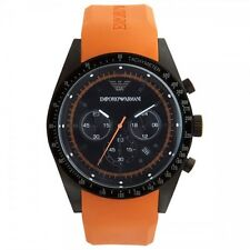 OROLOGIO EMPORIO ARMANI CHRONO ORANGE RUBBER AR5987 - NUOVO (LIST. € 359)
