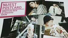 NU'EST NUEST POSTCARD Total 10pcs 1Set + Gift Photo Last one Original Authentic