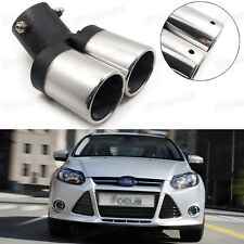 Car Exhaust Muffler Tip Tail Pipe End Trim Silver for Ford Focus 2011-2016 #5018