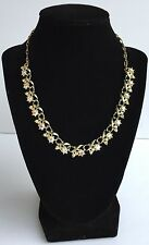 "Vintage Aurora Borealis 18"" Rhinestone Choker Necklace - Marked 'Star'"