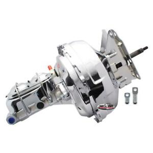 "Tuff Stuff Brake Booster/Master Cylinder Set 2132NA; Chrome 11"" Dual Diaphragm"