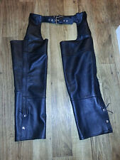 Womens FMC Leather Chaps size Large worn once!