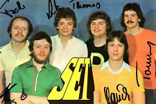 "Gruppe ""SET"" Leipzig  - Autogrammkarte  - S E T - DDR - Ostrock"