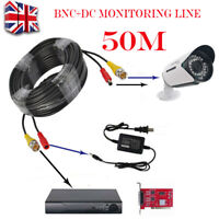 50M BNC DC Power Video Lead CCTV Security Camera and DVR Extension Cable