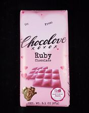 Chocolove Ruby Chocolate Bar 3.1 oz Ruby Cacao Beans