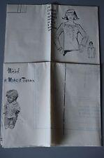 """"""" MODES & TRAVAUX """" PATRON NOV 1976 + PATRON POUPEE J.MICHEL MARIE FRANCOISE A10"""