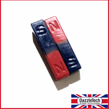 Ferrite Block Magnet Coloured North South - 9 x 9 x 40mm - Pack of 2