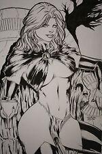GOBLIN QUEEN Madelyne Pryor Original Comic Art CARLOS SILVA X MEN PATRULLA