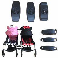 Für Yoyaplus Twin Kinderwagen Buggy Converter Pushchair Verbindung Adapter 3pcs