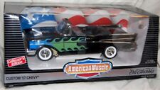 ERTL 1/18 Custom '57 Chevy Convertible Black w/Flames 32098 American Muscle 1957